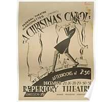 WPA United States Government Work Project Administration Poster 0575 A Christmas Carol Poster