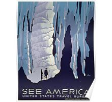 WPA United States Government Work Project Administration Poster 0119 See America Travel Bureau Poster