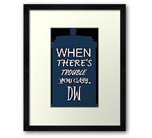 Call DW Framed Print