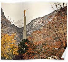 Provo Temple - Late Autumn Poster