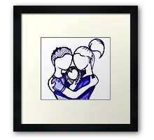 Navy Baby :  Newborn and Couple Framed Print