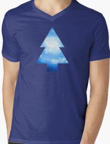 Dipper Pines Galaxy Tree Print Mens V-Neck T-Shirt