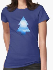 Dipper Pines Galaxy Tree Print Womens Fitted T-Shirt