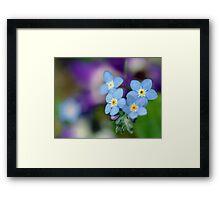 Blue Floral Mood Framed Print