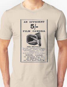 'Efficient Camera - 5 shillings!' Advert T-shirt etc.... T-Shirt