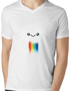 Happy Kawaii Rainbow Cloud Mens V-Neck T-Shirt