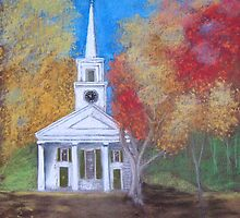 Old Sturbridge Church by Hilary Robinson