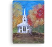Old Sturbridge Church Canvas Print