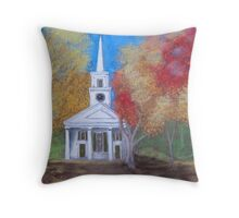 Old Sturbridge Church Throw Pillow