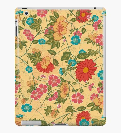 Colorful Flowers Collage Yellow Tones iPad Case/Skin