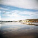 Compton Bay, Isle of Wight: Holga by redcow