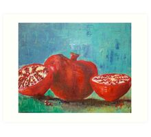 Pomegranate Red Pomegranates Art Print