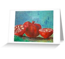 Pomegranate Red Pomegranates Greeting Card