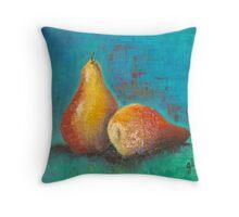 Golden pears Throw Pillow