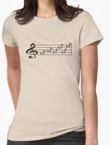 TAURUS - Words in Music - V-Note Creations (white text) T-Shirt