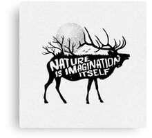Nature is imagination itself Canvas Print