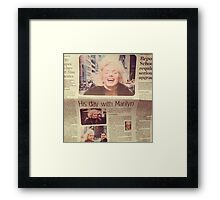 His day with Marilyn film Framed Print