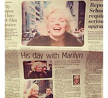 His day with Marilyn film Photographic Print