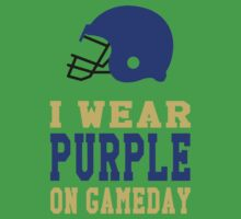 I Wear Purple on Gameday Kids Clothes