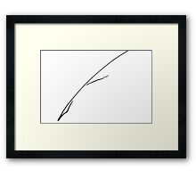 Black Writer's Quill Framed Print