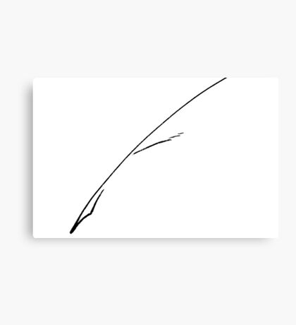 Black Writer's Quill Canvas Print