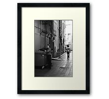 Even garbage bins need a bit of Christmas cheer! Framed Print