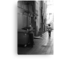 Even garbage bins need a bit of Christmas cheer! Canvas Print