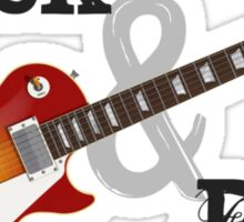 Rock & Roll Guitar Sticker