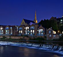 Durham Riverside View. Durham City. UK by David Lewins