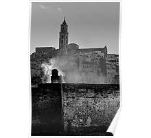 Lazy morning smoke, Matera, Basilicata, Italy Poster