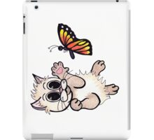 Kitten Playing with Butterfly iPad Case/Skin