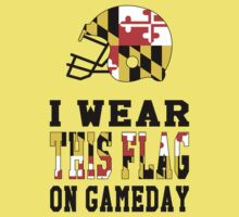I Wear This Flag on Gameday Kids Tee
