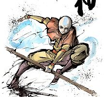 Aang from Avatar TV series by Mycks