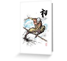 Aang from Avatar TV series Greeting Card