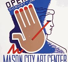 WPA United States Government Work Project Administration Poster 0382 Mason City Art Center Opening by wetdryvac