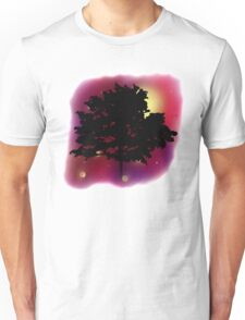 Trees Shadow Against the Night Sky Unisex T-Shirt