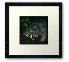 Radioactive Wolf - Green Framed Print