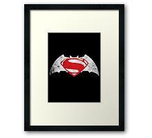 Batman Vs Superman Destroyed Framed Print