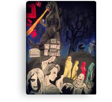 50s/60s Classic Horror Canvas Print