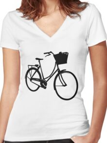 Classic style bike Women's Fitted V-Neck T-Shirt
