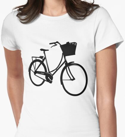 Classic style bike Womens Fitted T-Shirt