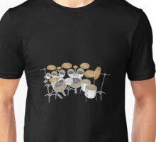White Drum Kit Unisex T-Shirt