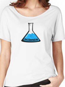 Science Beaker Blue Women's Relaxed Fit T-Shirt