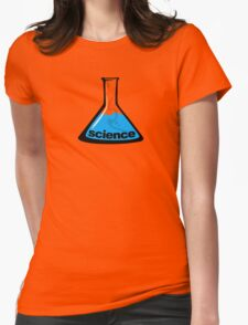 Science Beaker Blue Womens Fitted T-Shirt
