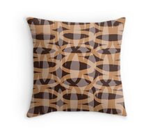 Interlocking Ovals - Tan, Brown, and Gray #1 Throw Pillow