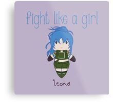 Fight Like a Girl - Leona | King of Fighters Metal Print