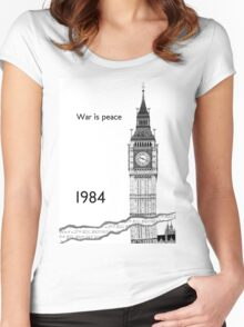 """George Orwell - 1984 - """"War is Peace"""" Women's Fitted Scoop T-Shirt"""