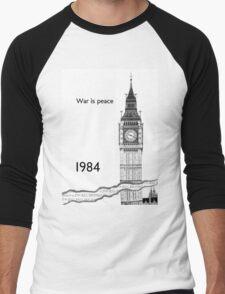 "George Orwell - 1984 - ""War is Peace"" Men's Baseball ¾ T-Shirt"