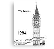 """George Orwell - 1984 - """"War is Peace"""" Metal Print"""