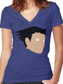 Phoenix Wright Women's Fitted V-Neck T-Shirt